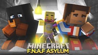 Minecraft - Donut the Dog Adventures -FNAF ASYLUM #3 - CHICA ATTACKS DONUT & DONNY!!!!