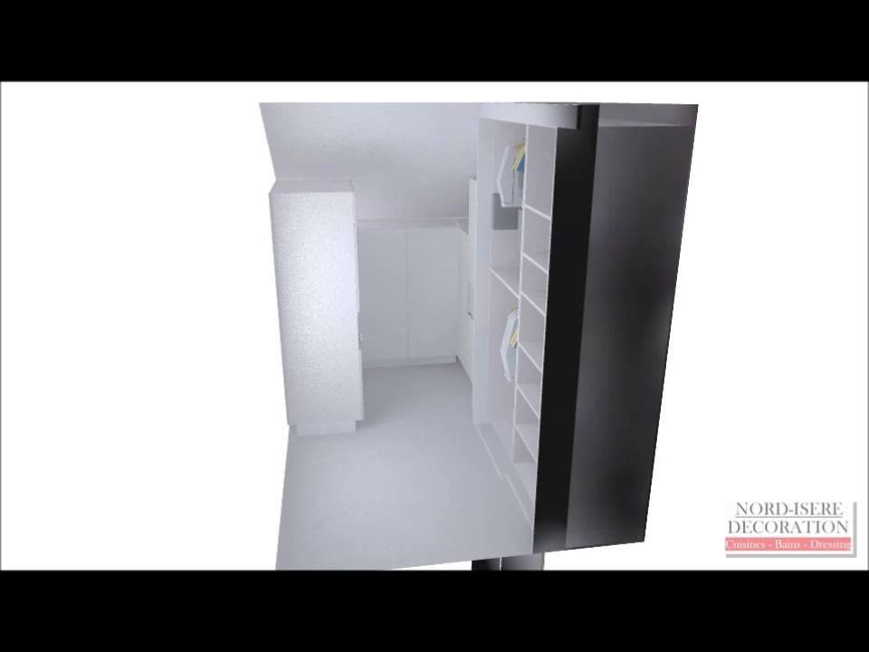dressing placard en sous pente sur mesure youtube. Black Bedroom Furniture Sets. Home Design Ideas