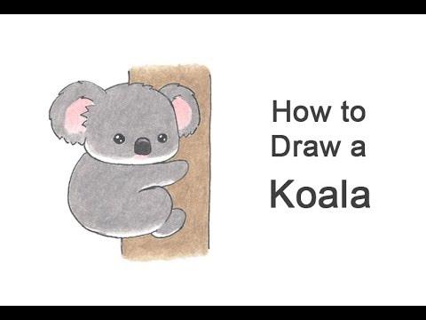 How To Draw A Koala (Cartoon)