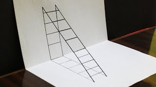 How to Draw a 3D Ladder? | Trick Art with Pencil | Latest Tips to Draw 3D Images | The Teknik