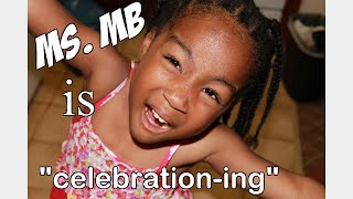 "Ms. Mocha Baby is  ""celebration--ing!"""