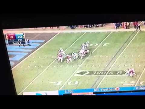 Cam Newton To Corey Brown 83-yard TD Pass ARIvsCAR