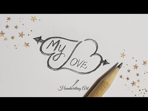 How to draw heart with love | Love Heart tattoo design | Simple Love Heart tattoo 2019 #1