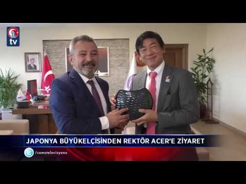 japonya büyükelçisinden rektör acer e ziyaret