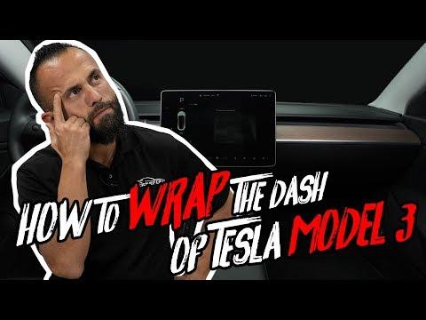 Custom Tesla Model 3 Dash Wrap How To (IN LEATHER)