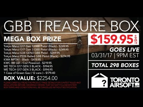 Toronto airsoft GBB treasure box: double unboxing