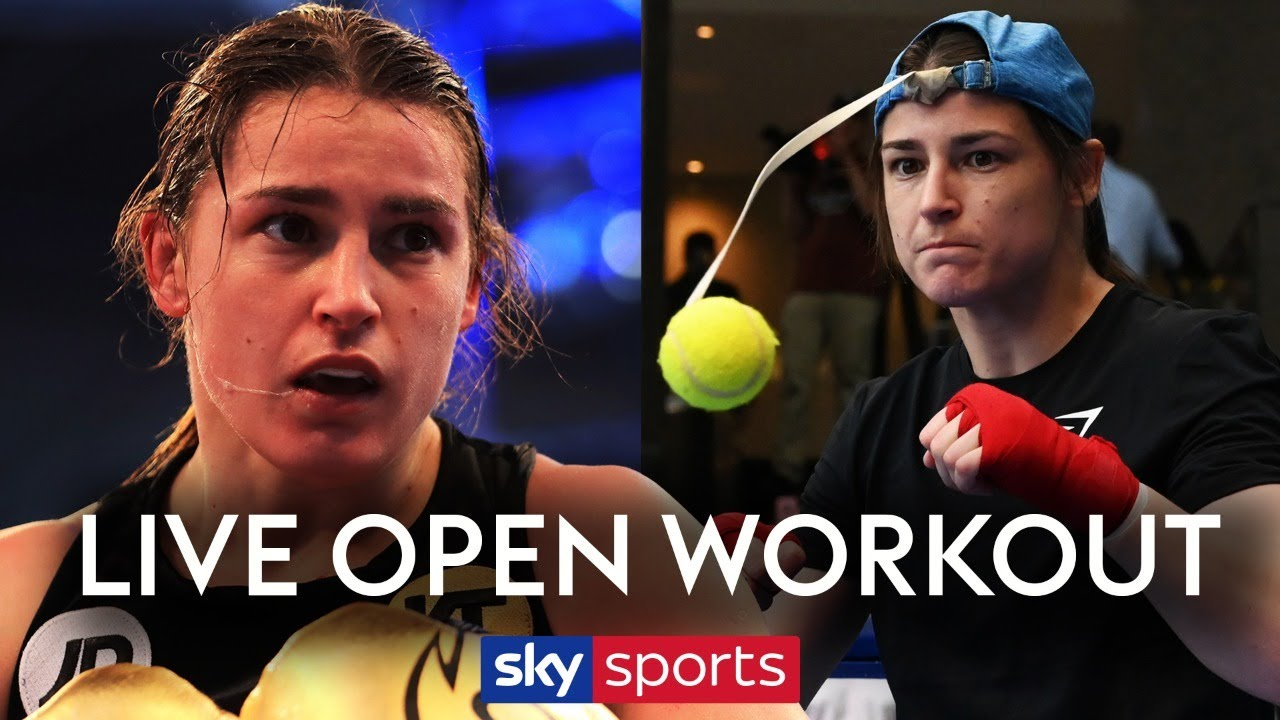 LIVE OPEN WORKOUT! Katie Taylor trains ahead of her fight against Delfine Persoon