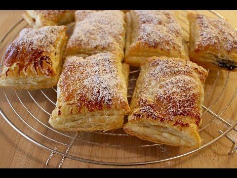 ravioles-feuilletÉes-À-la-banane-et-nutella||-recettes-faciles-et-rapide