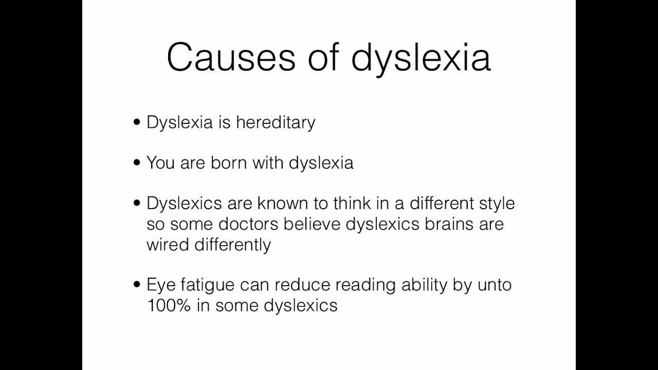 Adult dyslexia symptom