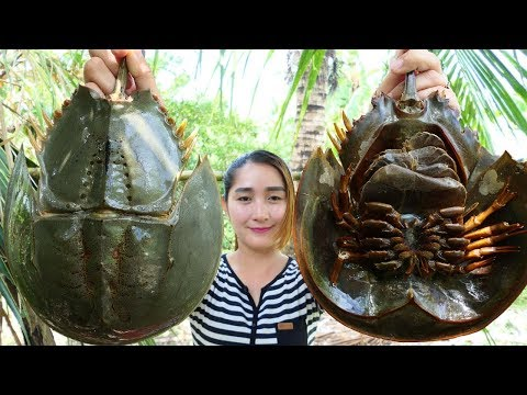 Yummy Horseshoe Crab Salad Cooking – Horseshoe Crab Cooking – Cooking With Sros