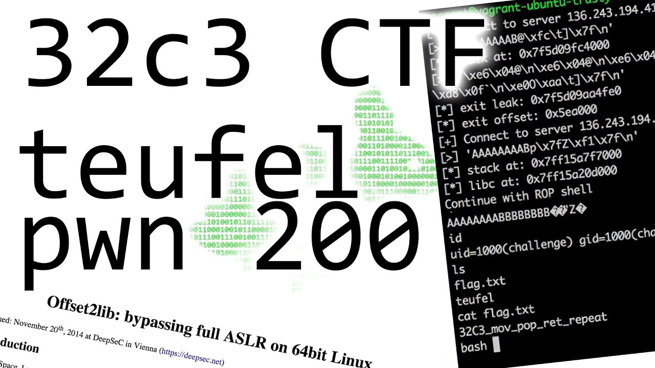 ROP with a very small stack - 32C3CTF teufel (pwnable 200)