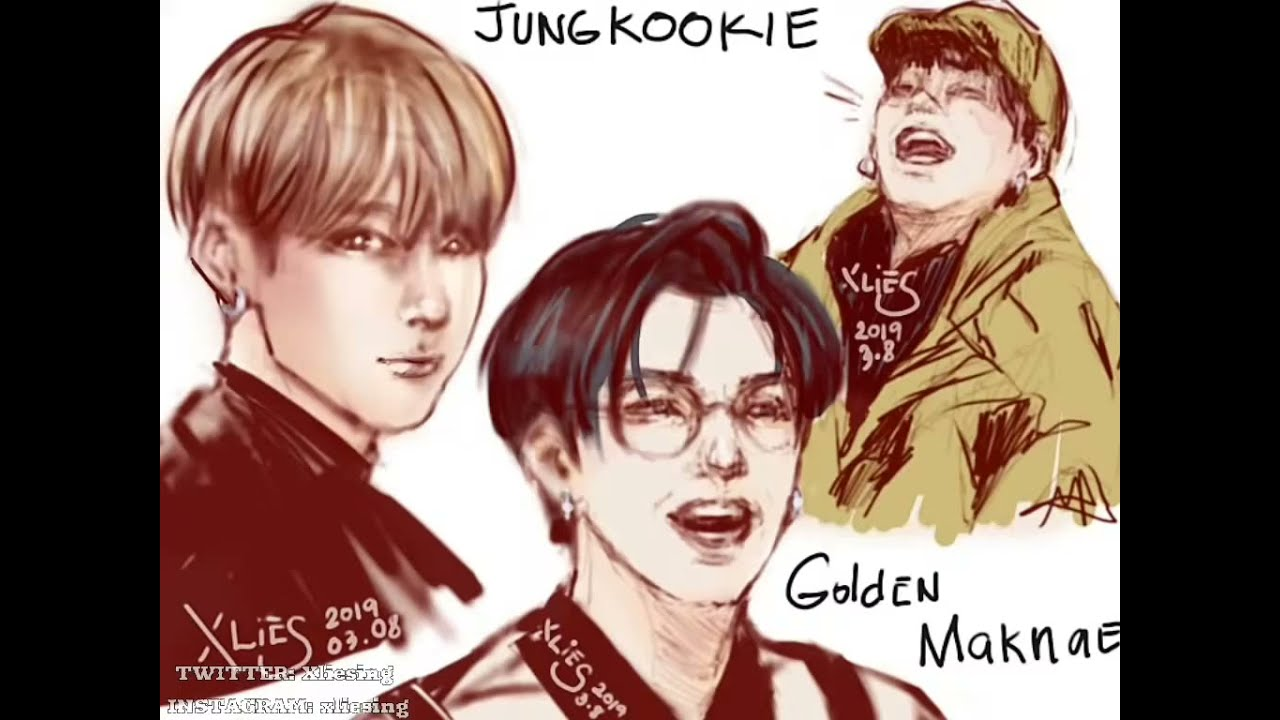 Drawing Jungkook (BTS)