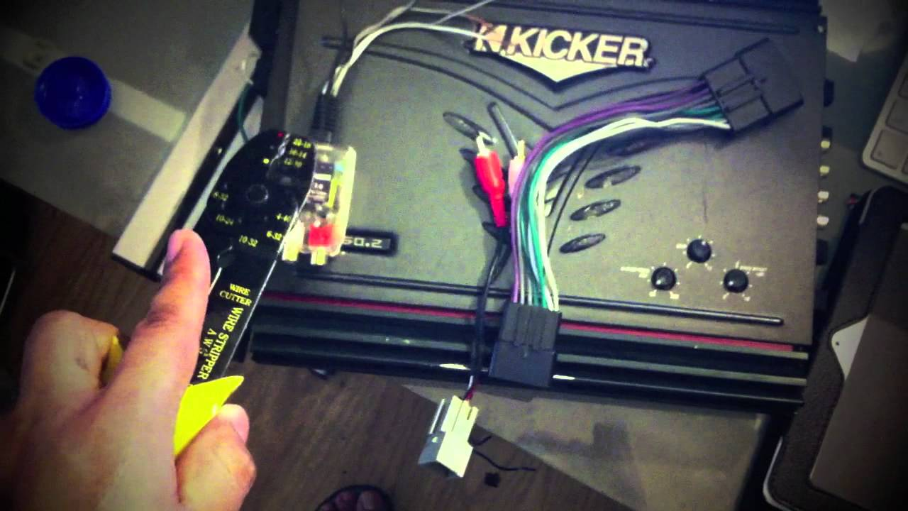 how to hook up a 4 channel amp into stock radio stereo  YouTube