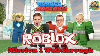 Squiddy Vision HD! Let's Play Roblox Heroes of Robloxia Mission 1 Walkthrough Bank Heist Bust