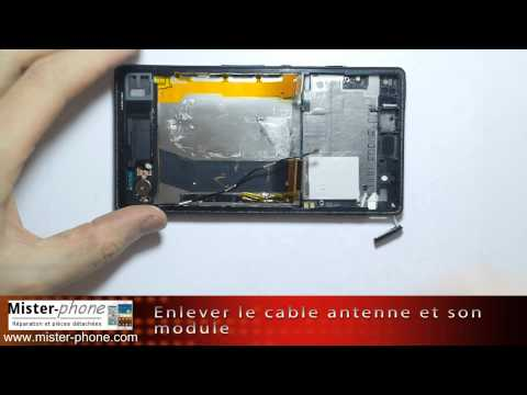 Sony Xperia Z changer ecran LCD vitre tactile chassis Tutoriel HD 1080p