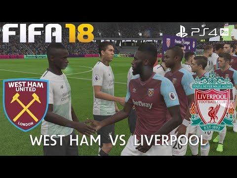FIFA 18 (PS4 Pro) West Ham United v Liverpool PREMIER LEAGUE 4/11/2017 PREDICTION 1080P 60FPS