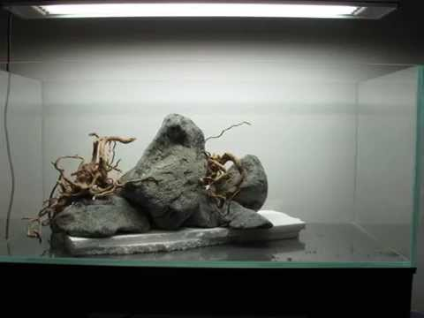 New Aquarium Hardscape Youtube