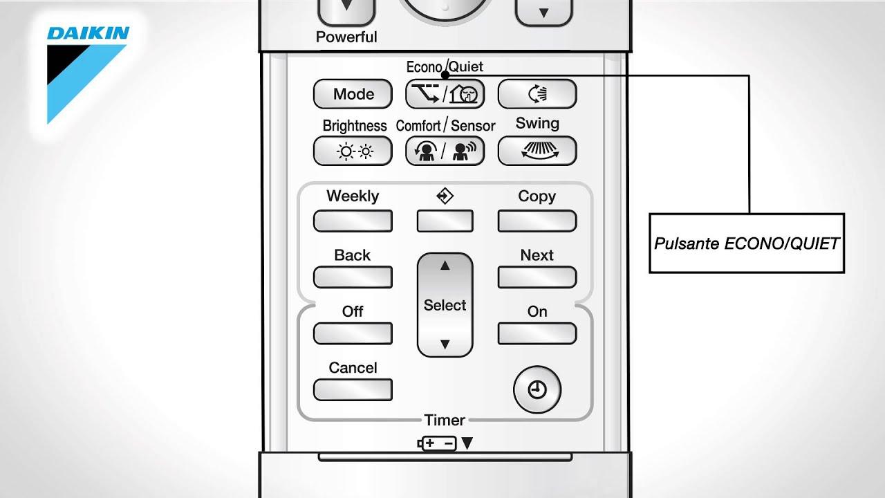 Manuale D Uso Telecomando Climatizzatore Daikin Emura Ftxg Lw S
