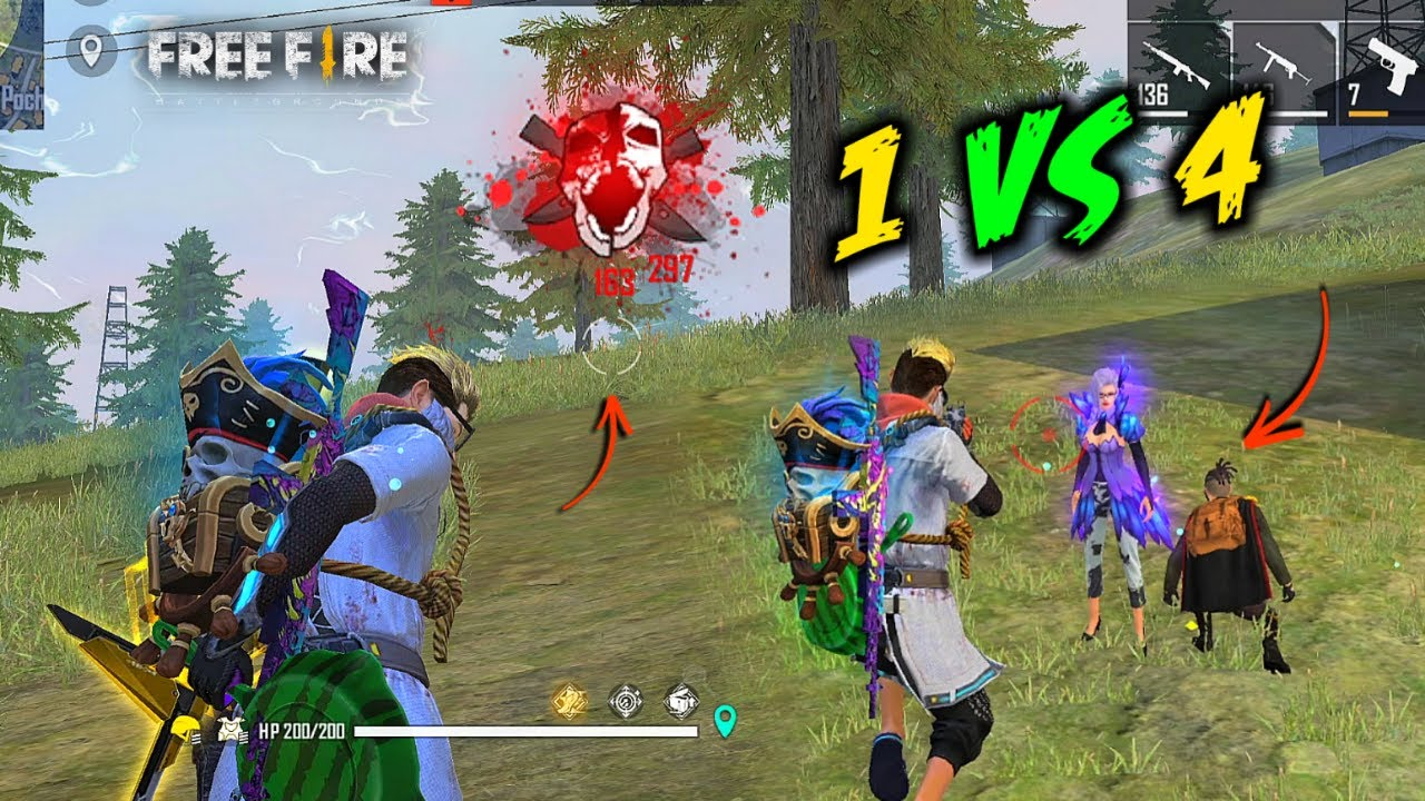 OMG! 24 Kill In Solo vs Squad Unbelievable HeadShot Gameplay - Garena Free Fire