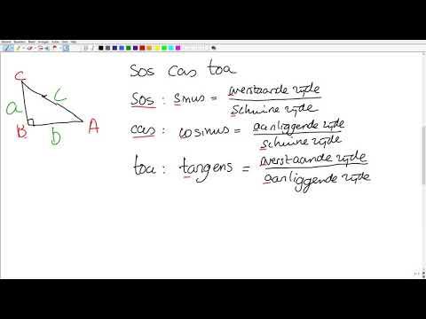 VMBO 4 Wiskunde: Goniometrie 1 (SOS CAS TOA)