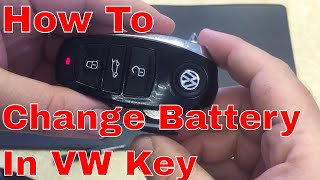 VW Touareg emergency key and battery removal