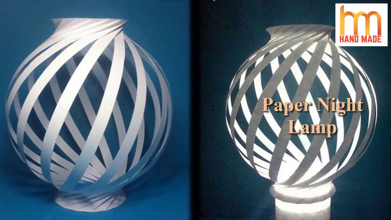 How to make paper night light lamps diy paper lampshades make how to make paper night light lamps diy paper lampshades make a night lamp audiocablefo