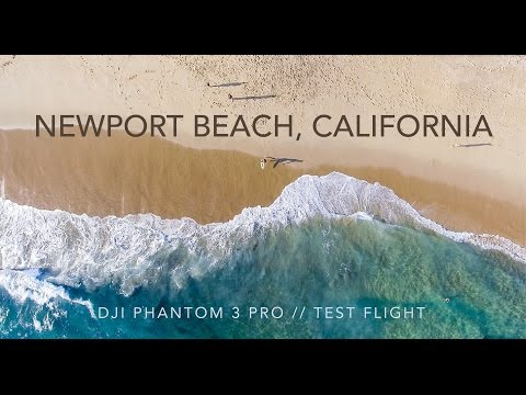 DJI Phantom 3 Pro - Test Flight (The Wedge - Newport Beach, California)