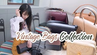 My Vintage Bags Collection 中古包合集(上)| Vintage Chanel | Celine | Gucci竹节包 |Loewe 马车包 | SKYE