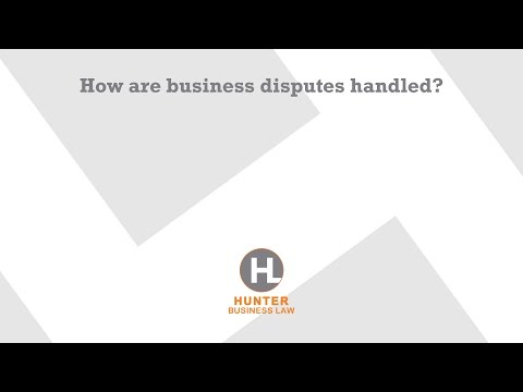 How are business disputes handled?