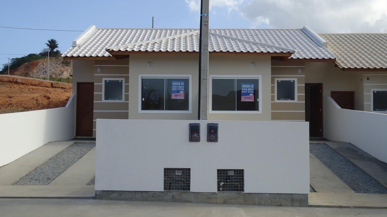 Casa geminada de 2 dorms. em Palhoça SC. R$125.000 00   #315D9A 1920 1080