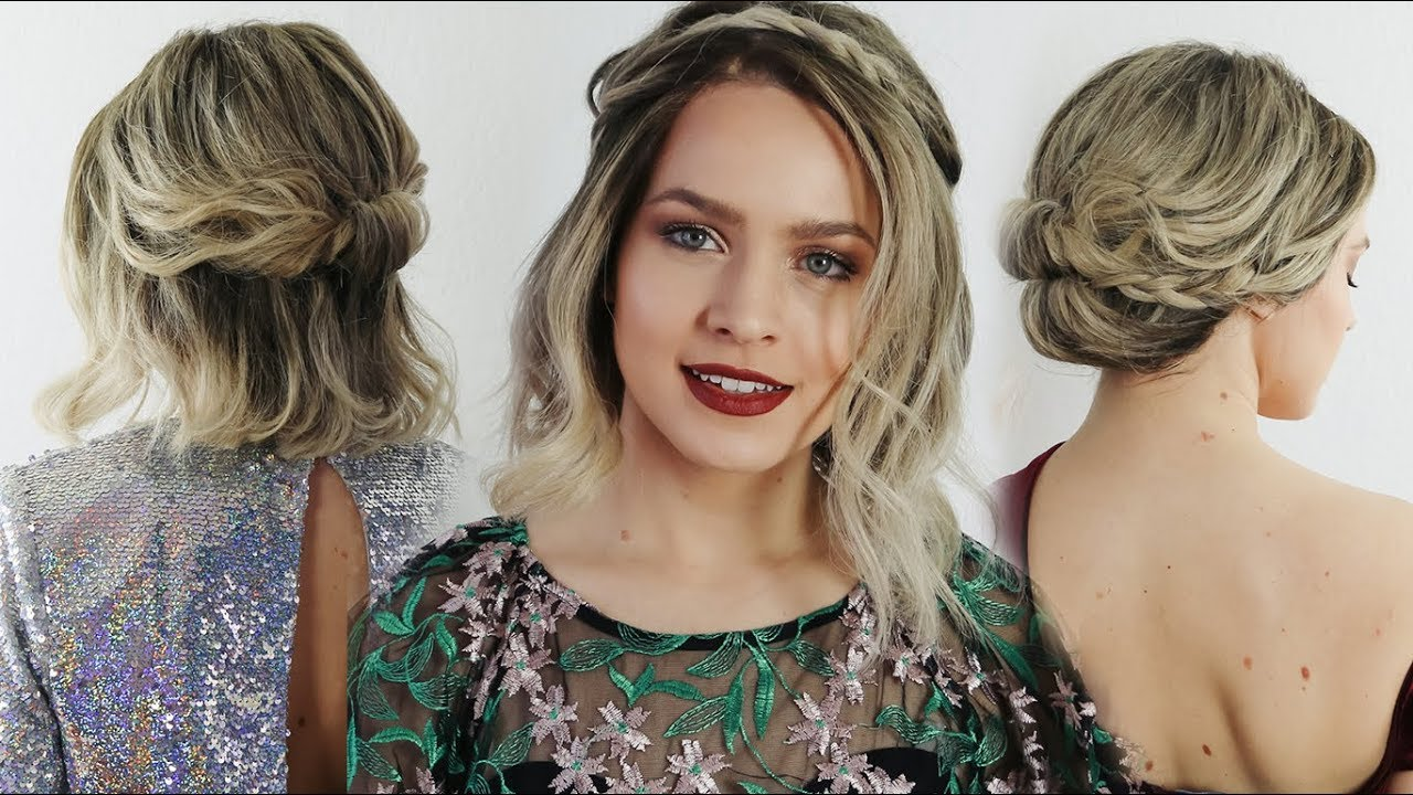 5 quick holiday hairstyles for short hair! - kayleymelissa - youtube
