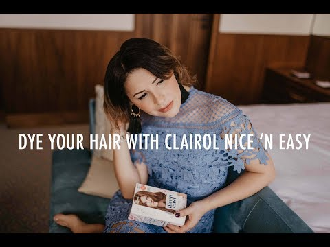 How to colour your short/fine hair with Clairol Nice 'N Easy