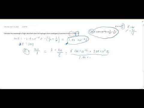 Transition in Energy Levels in Hydrogen Atom