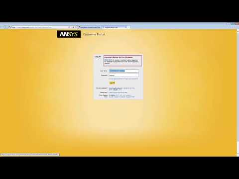 Creation Of An ANSYS Customer Portal Account
