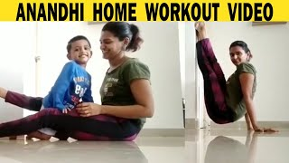 Anandhi Ajay Home Workout Video | Filmyfocus.com