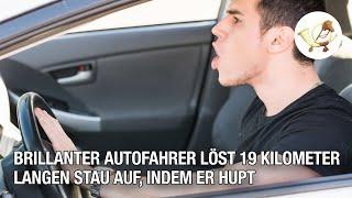 Brillanter Autofahrer löst 19 Kilometer langen Stau auf, indem er hupt