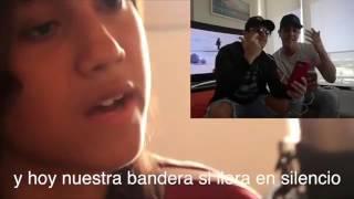 """Oscarcito canta tema junto a joven que sorprendió a todos en protesta / """"En Venezuela"""""""