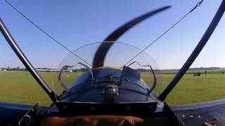 Flying the triplane - three cameras - external, first person and wi...