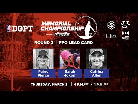 DGPT - 2017 Memorial Presented By Discraft - Round 2 FPO (SmashCutt)