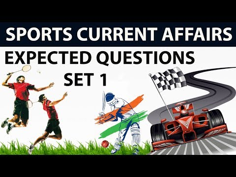 Sports current affairs MCQs of Last 6 months - Set 1 - October 2017 to March 2018 by Dr Gaurav Garg