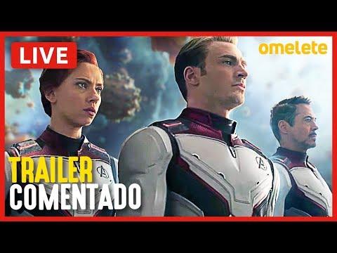 VINGADORES: ULTIMATO - TRAILER 3 COMENTADO | Live