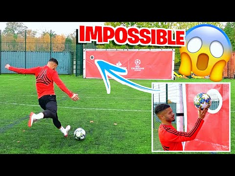 IMPOSSIBLE HOLE IN THE GOAL CHALLENGE! ⚽️😱
