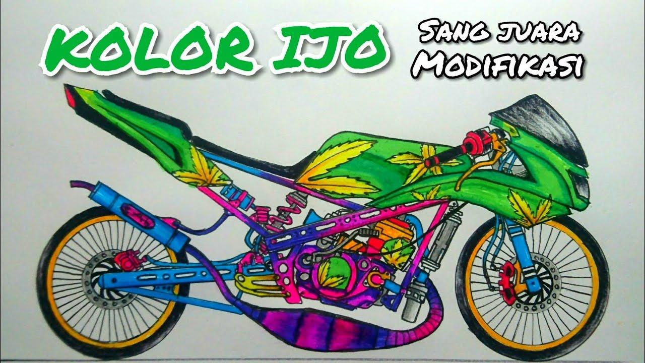 Drag Satria Fu Menggambar Motor Cara Menggambar Motor Drag Cara Menggambar Motor Drag Satria Fu Youtube