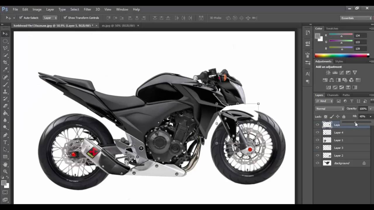 Photoshop virtual tuning motorcycle