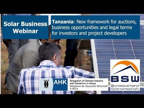 Solar Business Webinar – Tanzania