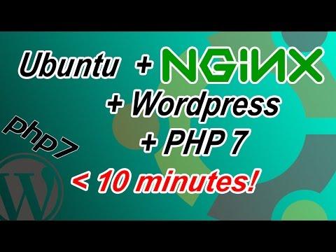 Ubuntu 16.04 NGiNX + PHP7 + WordPress in unter 12 Minuten (inkl. MySQL)