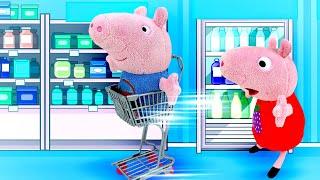 Свинка Пеппа иДжордж измультиков— Игрушки для малышей— Играем сдетьми вмагазин!