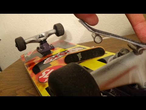 How to Make a Tech Deck Out of School Supplies!