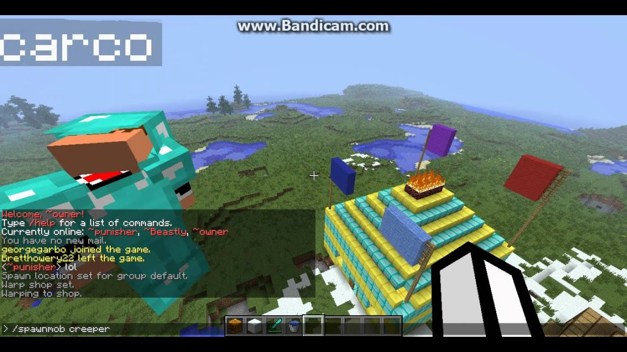 minecraft how to set spawns and warps  YouTube