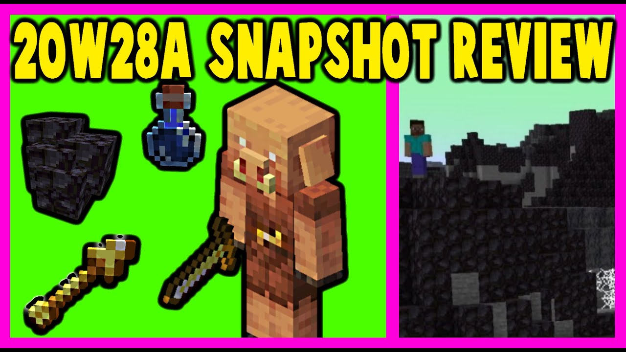 20w28a Minecraft Snapshot Review | New Barter Loot, Custom Biomes, Nether Brewing!